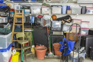 garage filled with various home storage items