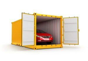 shipping container with auto shipment and delivery